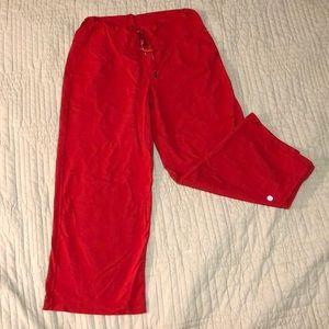 Red Wide Leg Lululemon Capris